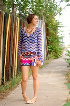 nude leather flats Zara flats - hot pink aztec print Tibi shorts