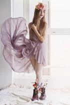 light purple chifon unknown dress