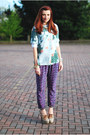 Blue-ted-baker-cardigan-light-purple-asos-pants-light-blue-vintage-blouse