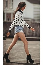 polka dot top Comme ca blouse