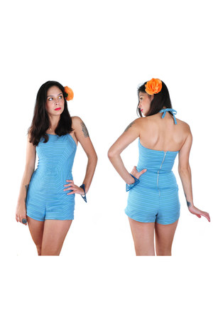 sky blue nova vintage clothing swimwear