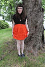 J-crew-skirt-owl-in-a-heart-thrifted-necklace