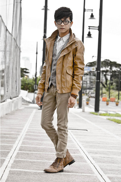 brown jacket Markus jacket