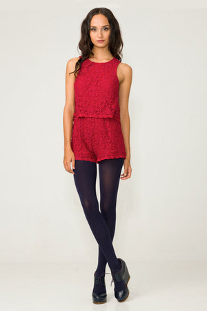 ruby red lace jumper jumper