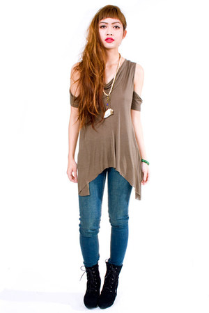 dark khaki Kill City top