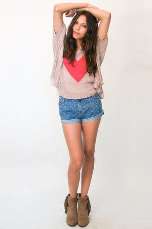 denim shorts MinkPink shorts