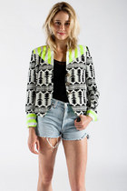 Mixed Pattern Blazer