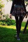 Gray-skirt-gray-leggings-gray-shirt-gray-shoes-black-intimate