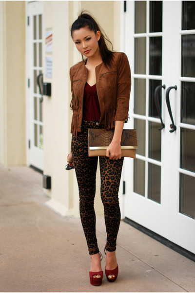bronze bcbg max azria jacket - dark brown Nasty Gal jeans