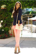 salmon forward to all jeans - ivory Sheinside bag