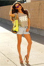 Yellow-lulus-bag-sky-blue-spikes-and-seams-shorts