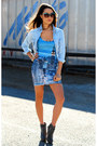 Heather-gray-zara-boots-periwinkle-black-milk-clothing-dress