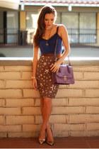 Handbag Heaven bag - Express top - Minted Republic skirt - Vince Camuto heels