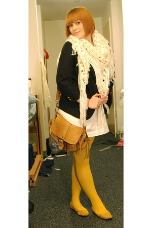 Gap dress - Nordstrom blazer - H&amp;M scarf - ROOTS purse