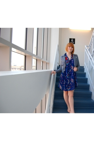 lux uo dress - H&M jacket - payless shoes