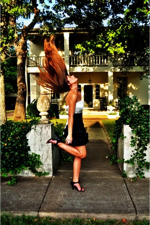 black and white My Michelle dress - Michelle Stuart heels