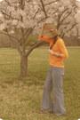 Thrifted-jeans-target-hat-neon-orange-target-top-charming-charlie-glasses