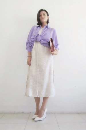 vintage dress - Mango wedges