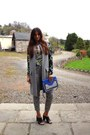 leopard print banana republic pants - grey Zara jacket