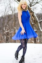 inlovewithfashion dress - Jeffrey Campbell boots