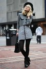 Heather-gray-french-connection-sweater-black-nasty-gal-skirt