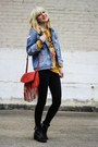 Red-target-bag-gold-sheinside-jumper