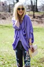 Light-purple-boohoo-sweater-heather-gray-insight-denim-pants