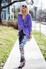Light-purple-boohoo-sweater-heather-gray-insight-denim-pants