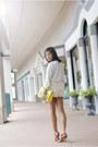 Lace-zara-shorts-neon-yellow-kate-spade-bag-studded-collar-zara-blouse