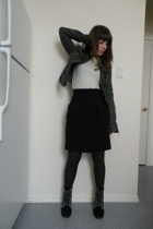 Uniqlo jacket - DKNY sweater - Diane Von Furstenberg skirt - Marc by Marc Jacobs