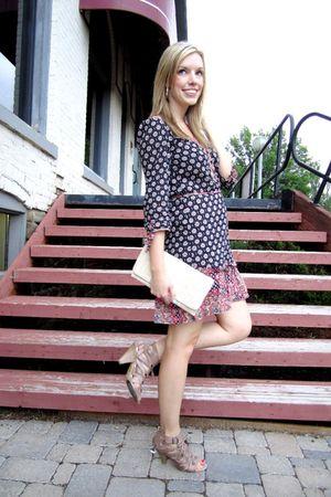 H&M dress - beige Aldo shoes - beige Costa Blanca purse