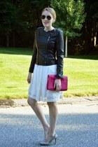 black RAISON dETRE jacket - white Tahari dress - heather gray BCBG heels