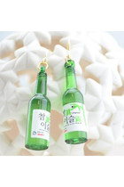 Creative Cute Green Bottle Studs Earrings