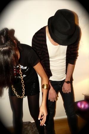 H&M t-shirt - skirt - Primark shoes - H&M hat - abanderado - Dr Martens boots