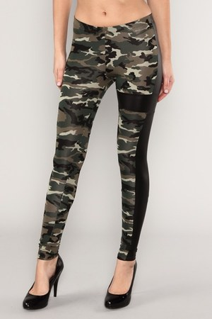 camo leggings leggings
