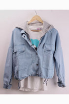 Denim Jacket with Detachable Hooded vest