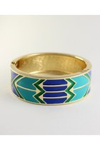 Geometric Tribal Aqua Bracelet