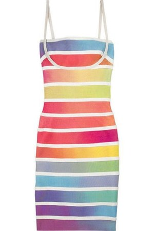 rainbow bandage herve leger dress