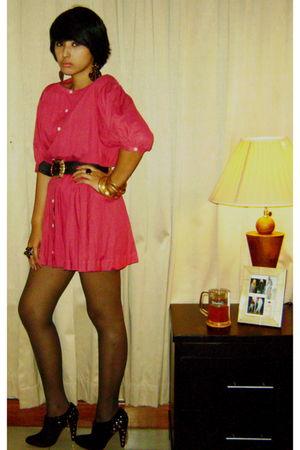 pink flea market dress