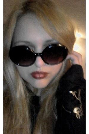 Mango sunglasses - longsleeved vintage blouse
