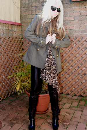 Sportsgirl coat - Armani Exchange pants - LV scarf - aa shirt - Sportsgirl sungl