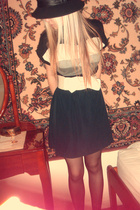 hand-made skirt - Kookai belt - Target top - levante tights