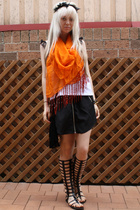 LAB shirt - Dont Ask Amanda skirt - vintage scarf - Sportsgirl purse - DIY - Urb