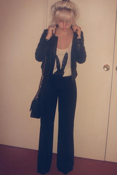 Kookai pants - joanie loves chachi jacket - sass&bide shirt - zu shoes