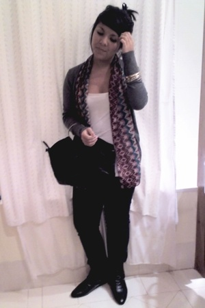 cotton on jacket - JayJays jeans - ICE purse - Novo boots - cotton on scarf - di