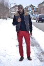 Navy-cable-knit-h-m-sweater-red-h-m-vest-h-m-pants