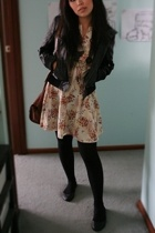 Sportsgirl jacket - vintage dress - vintage bag - Sportsgirl necklace