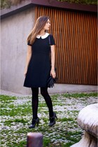 charcoal gray Comptoir des Cotonniers shoes - black max&co dress