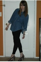thrifted shirt - Forever21 leggings - Bakers shoes