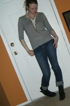 forever 21 sweater - banana republic jeans - Dolce Vita boots